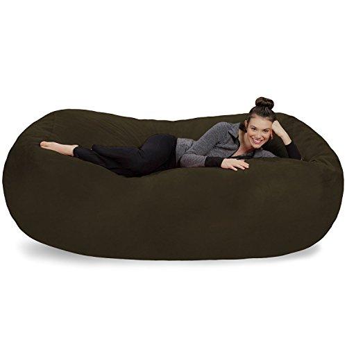 Sofa Sack - Plush Bean Bag Sofas with Super Soft Microsuede Cover - XL Memory Foam Stuffed Lounger...