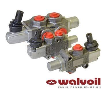 Walvoil manuelles Umstellventil für Spule, 3-Wege, 3/8-Zoll-BSP-Anschlüsse, geschlossene Mitte, Absperrung