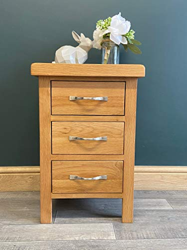 Furniture Octopus Modern Oak Bedside Cabinet/Rustic Oak Slim Solid Night Stand/Bar Handle