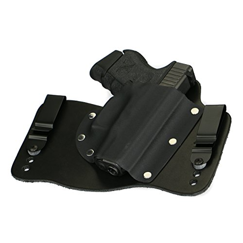 FoxX Holsters Glock 26, 27, & 33 in The Waist Band Hybrid Holster (Black)
