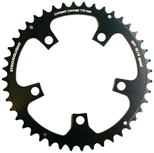 Stronglight - Corona Catena per Bicicletta, 5 Bracci, Nero (Nero), 44 Denti