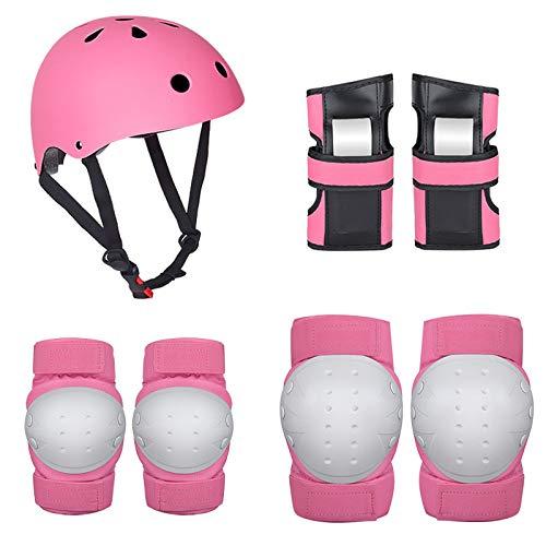 CXBHB Schutzausrüstung Set fürM Erwachsenen-Rollschuh-Schutzausrüstung Skate-Skating-Sportschutz-Set Balance-Auto Kinderhelm-Schutzausrüstung