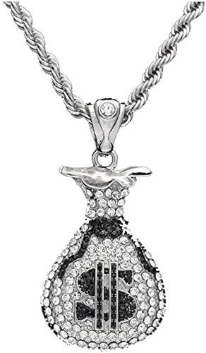 Liuqingzhou Co.,ltd Collar con Colgante Bolsillo Lleno de Dinero Collar con Colgante Collar con Colgante con Monedero