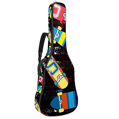 Bolsa Guitarra Electrica Patineta Negra Funda para Guitarra Oxford impermeable Mochila guitarra...