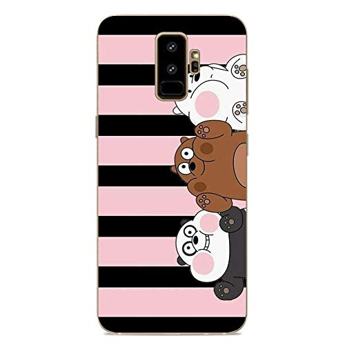 Clear Soft Silicone TPU Liquid Case for Samsung Galaxy S9 Plus, We Bare-Bear Animated 7