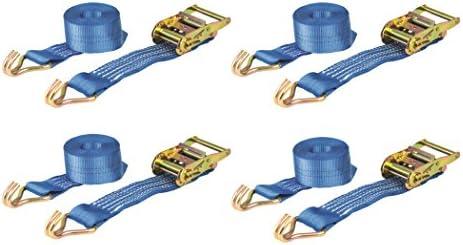 2500kg webbing 50mm x 3m Ratchet Straps Heavy Duty 2000kg // 2 Ton 4 Pack