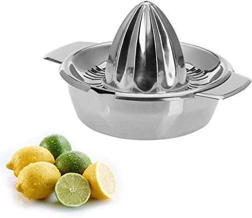 Westmark Zitronen-/Zitruspresse mit Behälter, Durchmesser: 13,8 cm, Fassungsvermögen: 350 ml, Rostfreier Edelstahl, Silber, 30942260