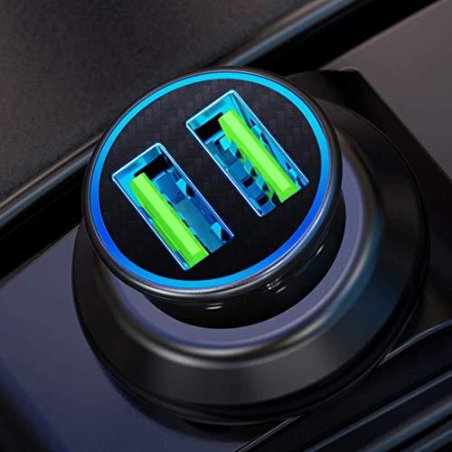 Elanyouth SOC-1A Cargador de Coche, Barcos y Marina Dual USB con Interruptor 12 V/24 V y de Toma de Corriente Dual 5 V/4.2 A
