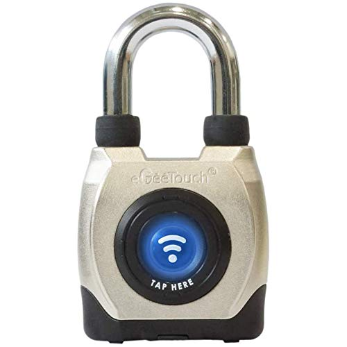eGeeTouch 3rd GEN. Outdoor Smart Padlock Weatherproof, Rugged Design for Commercial use, Bluetooth + NFC (Short Shackle)