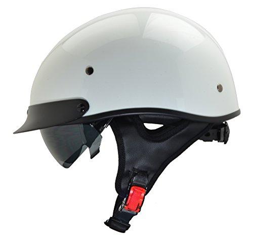 Vega Helmets Unisex-Adult Half Helmet (Pearl White, Large)