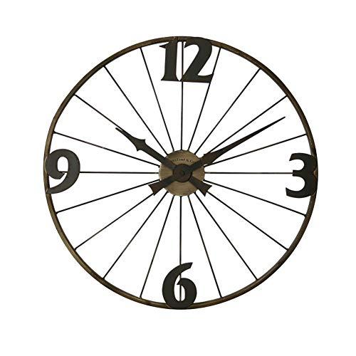 YUXO Kitchen Wanduhr Europäische Retro Wanduhr Schmiedeeisen Kreative Uhr Stumm Quarzuhr Fahrradfelge Dekorative Uhr modischer Stil (Color : B)