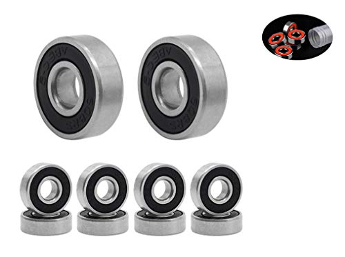 Enuff Abec 9 Water Resistant Bearings Pack of 8