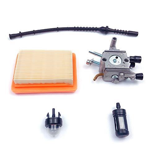 karrychen Carburetor Kit for Stihl FS400 FS450 FS480 String Trimmer Brush Cutter Fuel Line