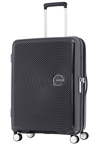 American Tourister 86230-1041 Curio Spinner Large Exp., Black, Checked - Large