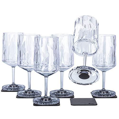 Silwy, bicchieri magnetici in plastica ad alta tecnologia e nano-gel metallici, bicchieri da campeggio, accessori per barche e yacht (vino // 0,3 l)