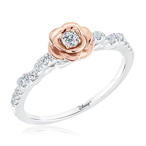 Disney Enchanted Belle's Rose Diamond Ring 1/4ctw - Size 7