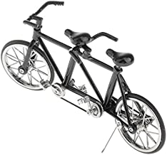 1/16 Tandem Bicycle Model, Alloy Bike with Tandem Bicycle Style for Display Item, Home Decoration and Collections Full Black