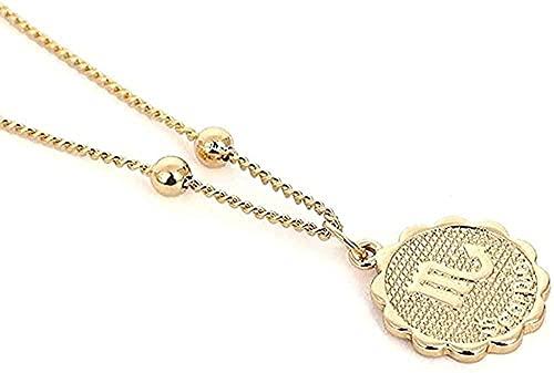 ZPPYMXGZ Co.,ltd Collar de 12 Constelaciones, Collar con Relieve, Colgante, Collar de Cobre, Collar de Cadena del Zodiaco, joyería del horóscopo para Regalo de Mujer