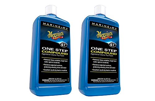 Meguiars M6732 Marine/RV One Step kGiOP Compound, 32 oz. (2 Pack)