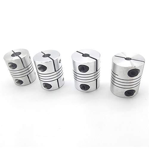 ZHOUCHENPQ Shaft Couplings 4PCS 8X8MM D25L30 Aluminum Z Axis Flexible Coupling For Stepper Motor Coupler Shaft Couplings 3D Printer Parts Accessory Couplings