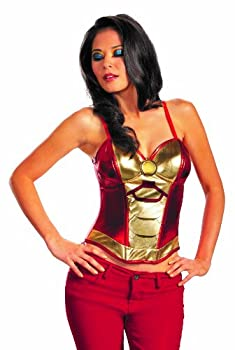 Disguise Marvel Iron Man Mark 42 Fiercely Femme Sassy Womens Adult Bustier Costume Gold/Red Medium/8-10