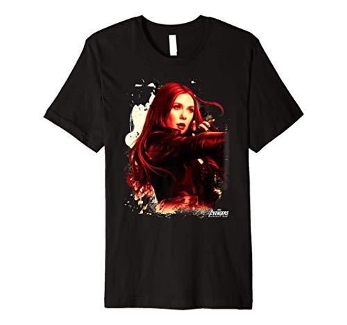 Marvel Infinity War Scarlet Witch Portrait Premium T-Shirt