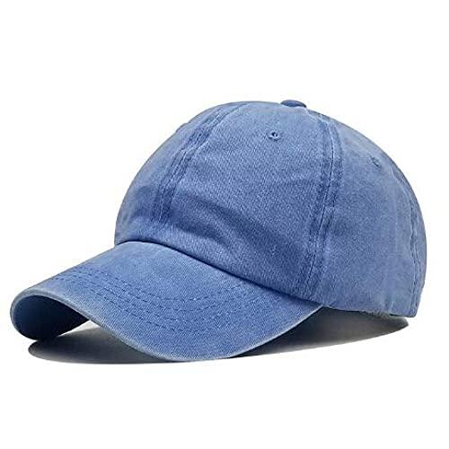 BOIPEEI Beanie Sombreros Algodón Lavado Tablero de Luces de Color Puro Gorra de béisbol para Hombre Gorra Opcional Costura Sombrero de papá Gorras Sombrero