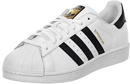 Adidas Unisex-Kinder Superstar Low-Top,Weiß (Ftwr White/Core Black/Ftwr White),38 2/3 EU