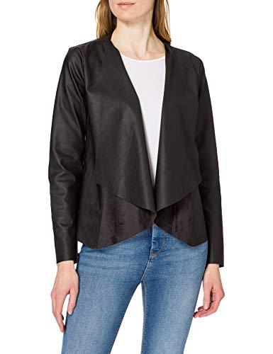ONLY Damen ONLLIANA Drapy Faux Leather Jacket OTW Jacke, Black, L