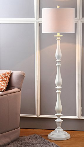 Safavieh Lighting Collection Bessie Candlestick White 62-Inch Floor Lamp