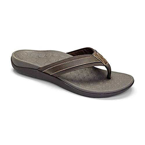 16c9890fc060 Vionic Men s Tide Toe-Post Sandal - Flip Flop with Concealed Orthotic Arch  Support
