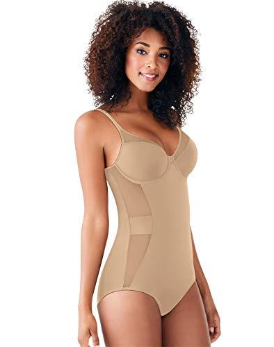 Bali Women's Ultra Light Illusion Shapewear Body Shaper DF0056, Nude, 38D
