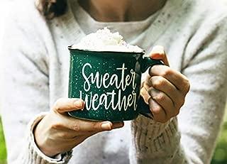 Sweater Weather Campfire Mug - Fall Decor - Rustic Decor - Good Morning Pumpkin - Fall Coffee Mug - Pumpkin Spice Latte - Gift for Friend