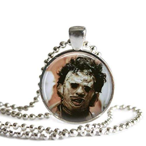 Leatherface 1 Inch Silver Plated Pendant Necklace or Keychain Texas Chainsaw Massacre