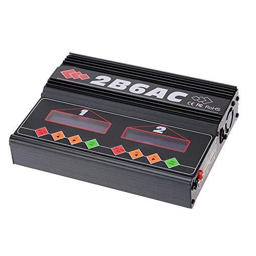 WANGYOUCAO Marca 2B6AC 2 X 50W de Doble Potencia multifunción AC DC Cargador de Equilibrio descargador para RC LiPo Lilo Life MiMh NiCd PB batería