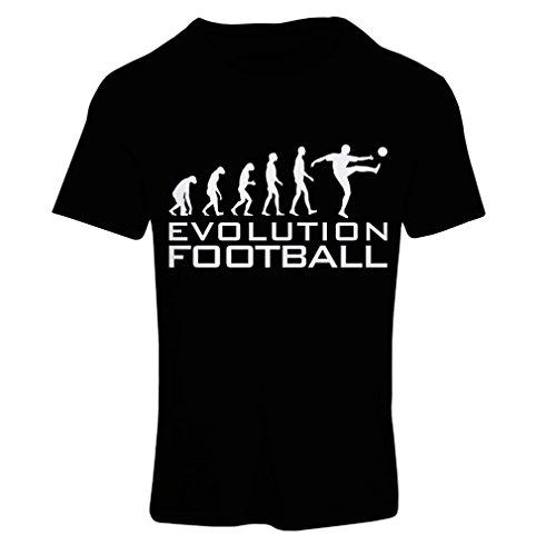 lepni.me Camiseta Mujer La evolución del fútbol - Camiseta de fanático del Equipo de fútbol de la Copa Mundial (X-Large Negro Blanco)