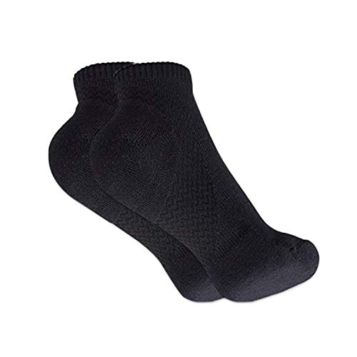 Gripper Arch Support Compression Yoga / Hospital Socks with Grips For Men & Women by Stomper Joe (Black with no sole grips)
