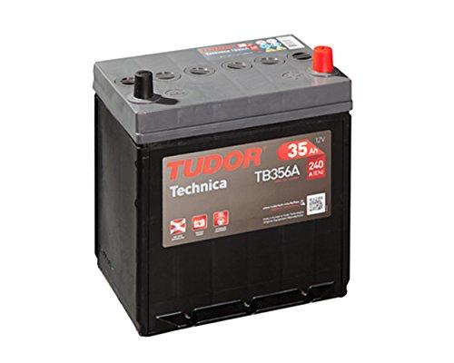 Tudor Exide Technica 35Ah, 12V. Dimensiones: 187 x 127 x 220. Borne derecha. Batería coche. 15% Más potente que las…