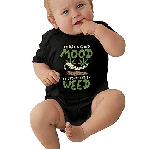 Inaayayi Bebé Onesies Verde Abstracto Cannabis Weed Leaf Promocional Poster Baby Bodysuits Baby Boys y Girls Babys Body de manga corta