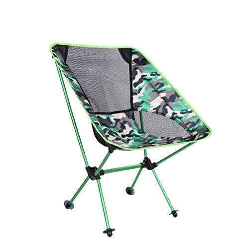 UICICI Chaise de pêche multi fonction plage de camping en plein air Portable chaise de loisirs chaise pliante en alliage d'aluminium (Color : Green)