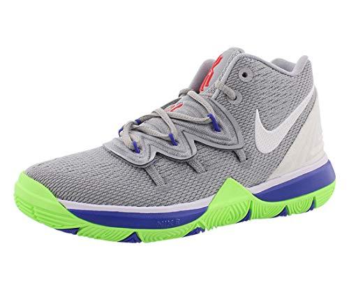 Nike Kids Preschool Kyrie 5 Basketball Shoes (13K, Grey/Lime)
