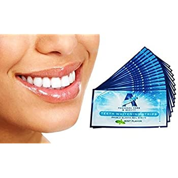 Amazon Com Sparkling White Professional Strength 6 Hp Teeth Whitening Strips Elastic Strips Plus Advanced Whitening Formula Great Results 28 Strips 14 Upper And 14 Lower Free Teeth Shade Guide Included Health Personal Care