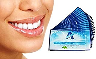 Sparkling White Professional Strength 6% HP Teeth Whitening Strips - Elastic Strips Plus Advanced Whitening Formula = Great Results! 28 Strips (14 Upper and 14 Lower) Free Teeth Shade Guide Included.