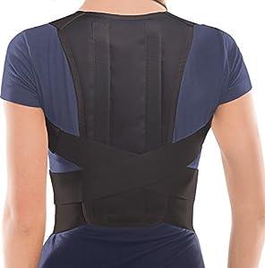 Corrector Postura y Soporte para Espalda- corrección de postura Negro Small