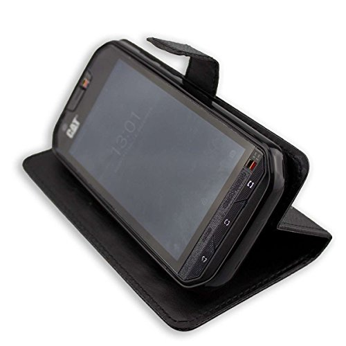 sprzedaż hurtowa świetne ceny tanie trampki Casco para Cat S60, Bookstyle-Case Funda Protectora a Prueba de Golpes para  Smartphone (Carcasa de Color Negro)