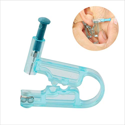 2X Wegwerp Oor Piercing, Met 2 RVS Oorbellen, Twee Sterile Alcohol Pads, Veilige Aseptic Puncture Tool