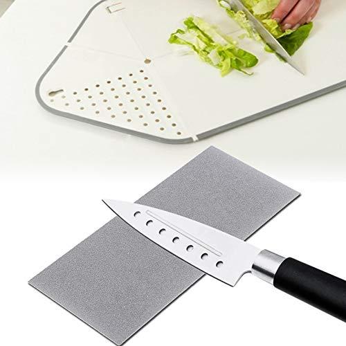 Square Whetstone, con coltello da frutta in metallo 17 * 7.5 cm Affilacoltelli da cucina