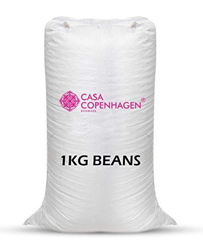 Casa Copenhagen Premium 1 Kg Bean Bag Refill/Filler - White Zinate (1 kg Beans - 700 Grams net Weight as per Indian Standards)