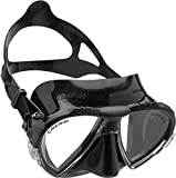 Cressi Matrix Mask - Máscara de Buceo y Snorkeling, Unisex Adulto, Negro/Negro, Talla única