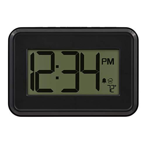 La Crosse Technology 513-113 Digital Wall Clock with Temperature & Countdown Timer, Black
